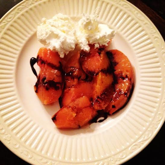 Peaches and Balsamic Glaze with Homemade Cinnamon Whipped Cream ...