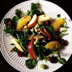 fall watercress salad