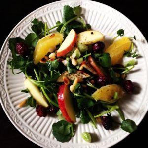 fall watercress salad